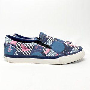 Original Penguin Beckett Blue Canvas Slip On Shoes